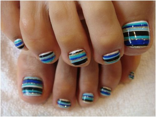 Art Stripes ongle d'orteil