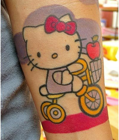 hello Kitty conceptions de tatouage
