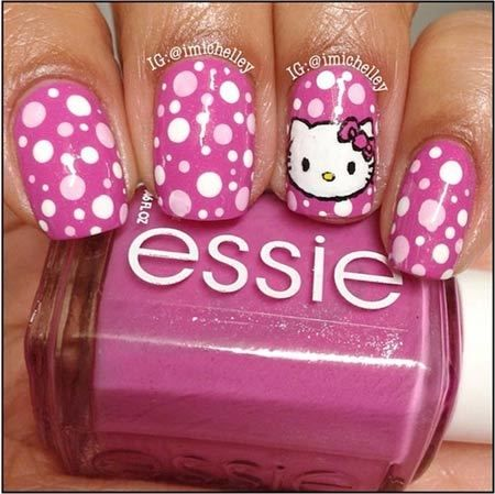 hello kitty ongles dessins
