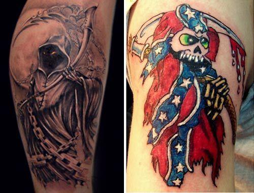 50 tatouage mindblowing con oit pour les filles - Tatouage la faucheuse ...