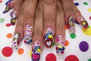 Bubbles Nail Art Design