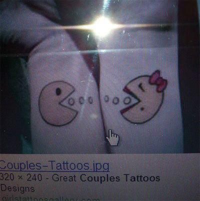 Cartoon couple de tatouage