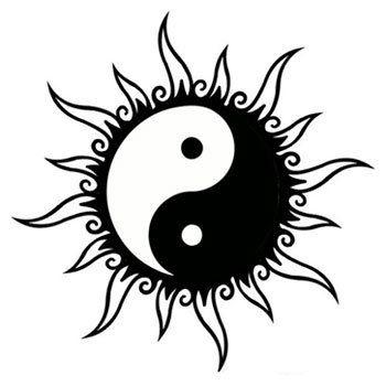 tatouage ying yang chat. Black Bedroom Furniture Sets. Home Design Ideas