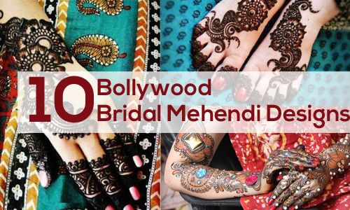 Top 10 bollywood mehndi conceptions nuptiales vous pouvez essayer Photo