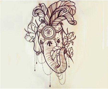 dessin tatouage elephant | tuer auf