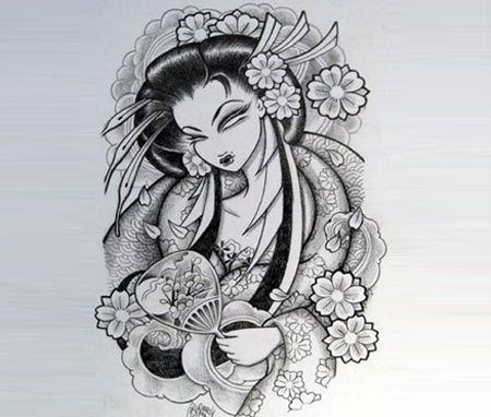 Geisha Art Tattoo traditionnelle