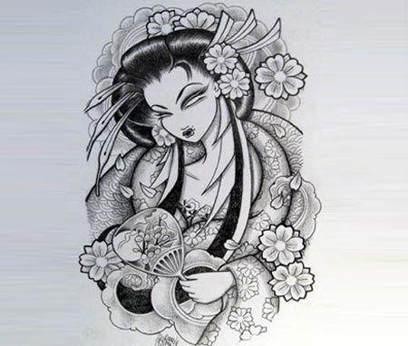 top 10 des dessins de tatouage geisha