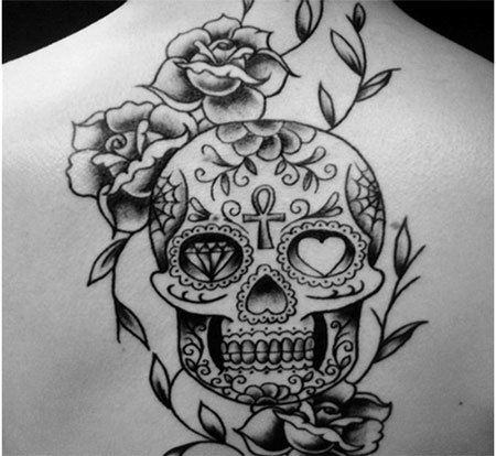 Top 10 des dessins de tatouage mexicain - Tattoo crane mexicain ...