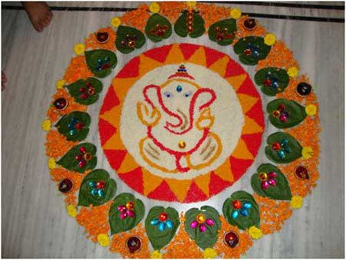 Top 10 nord designs Rangoli Indian Photo