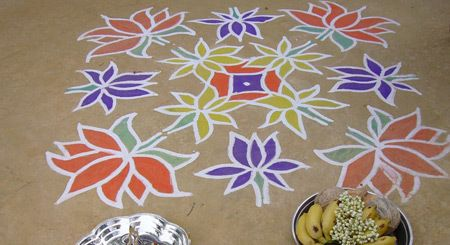 Top 10 sud designs Rangoli Indian Photo