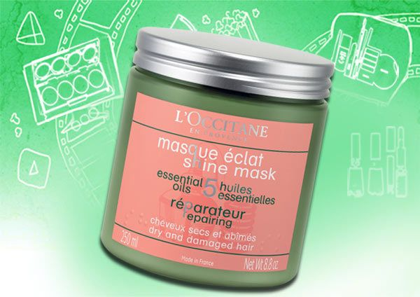l'occitane - repairing mask for dry and damaged hair/ shine mask