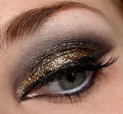 Smokey paillettes d'or Maquillage des yeux
