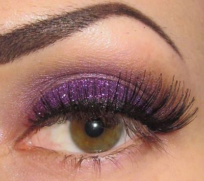 Glitter Purple Ombre Maquillage des yeux